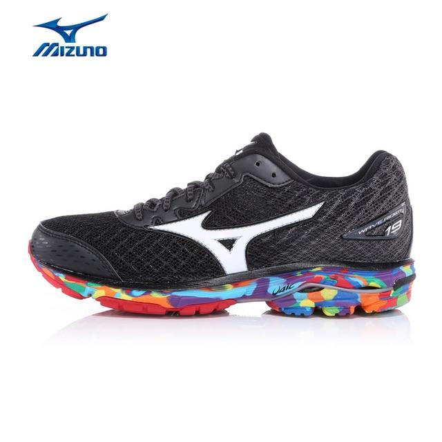 00047c3b1b99 MIZUNO Women's Jogging Running Shoes Cushioning Light Marathon WAVE RIDER  19 OSAKA Sneakers Sports Shoes J1GD160870