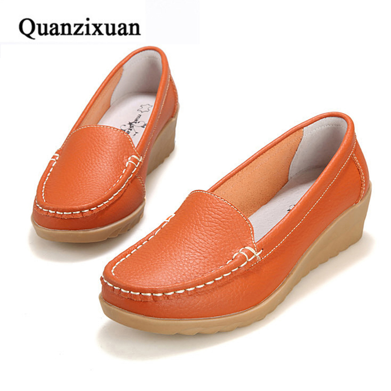 Hot Sale Leather Women Flats Shoes Fashion Slip On Soft Women Flats Loafers Female Driving Shoes cresfimix zapatos women cute flat shoes lady spring and summer pu leather flats female casual soft comfortable slip on shoes