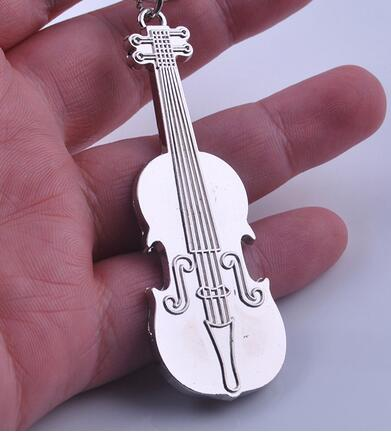 US $82 0 |100pcs/lot fedex fast free shipping woman man Mini Creative  Violin Charm Music Keyring Keychain Metal Key Ring -in Key Chains from  Jewelry &