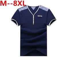 Free Delivery Plus Size 10XL 9XL 8XL 7XL 6XL Men V Neck T Shirt Brand Cotton