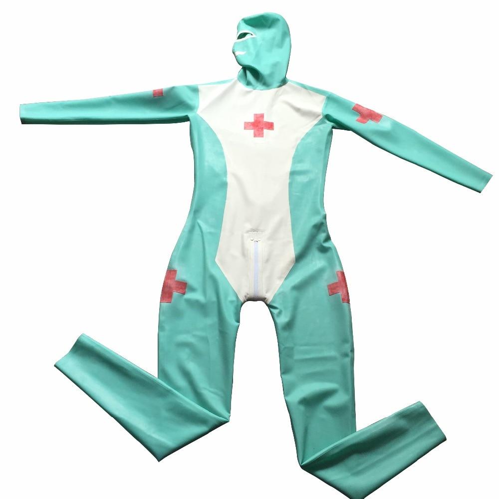 Latex Nurse Uniform Exotic Costume Latex Rubber Full Cover