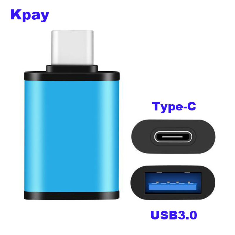 Male Type-C To Female USB USB3.0 Adapter Type C OTG Data Sync Charge Adapter For Macbook Huawei Matebook Samsung S8 S9 S10 Plus