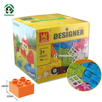 Designer DIY Gift Toy Box Building Blocks 72pcs Classic Toys Educational Baby Toy Bricks Compatible With
