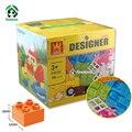 Diseñador de caja de bloques de construcción de juguete de regalo diy 72 unids clásico juguetes educativos del juguete ladrillos de bloques de gran tamaño compatible con lego