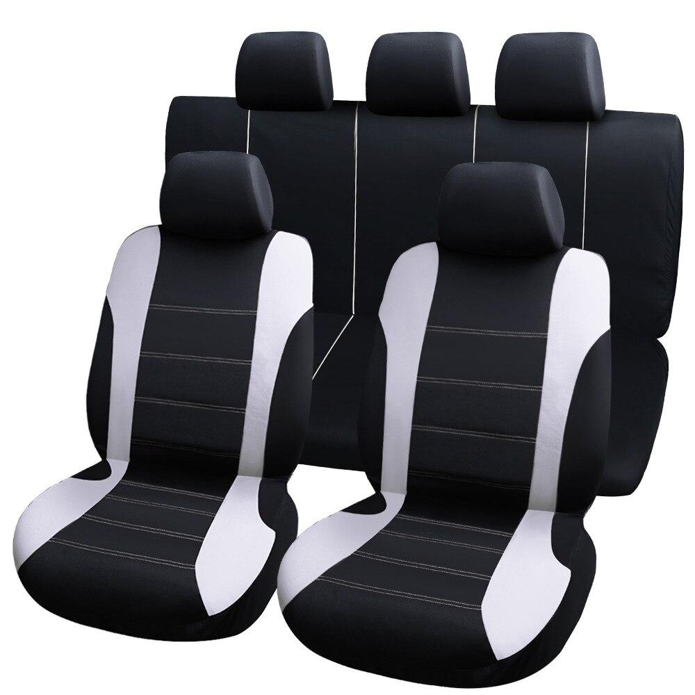 9 шт. универсальные чехлы для автомобильных сидений Автомобильные Защитные чехлы автомобильные чехлы для сидений fo kalina grantar lada priora renault logan