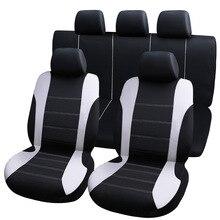 Capas protetoras de assento universal para carro, 9 peças, capas de assento automotivo, fo, kalina grantar, lada priora, renault logan