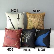 Cotton Linen Square Decorative Throw Pillow Case Vintage Cushion Cover Euphoria Home Game of Thrones