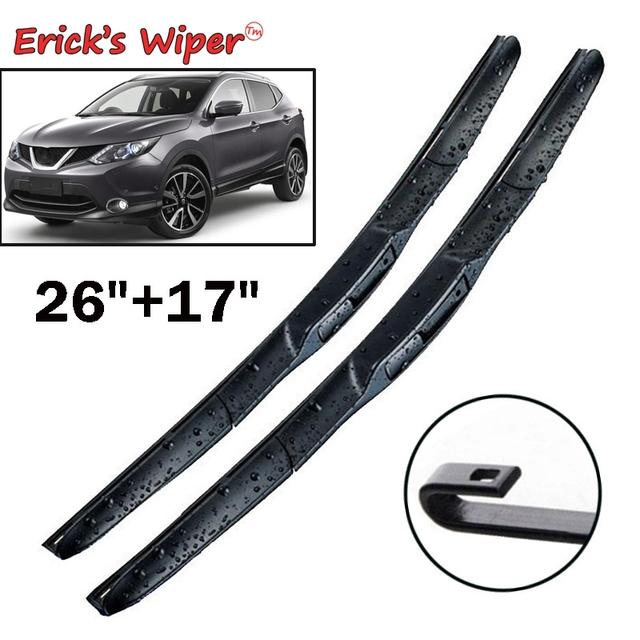 Erick's Wiper LHD Front Wiper Blades For Nissan Qashqai J11 2013 – 2020 Windshield Windscreen Front Window 26″+17″