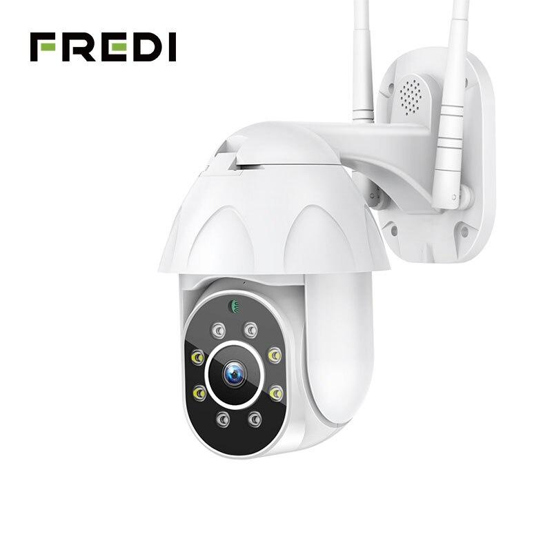 FREDI Auto Tracking Outdoor IP Camera 1080P Speed Dome Surveillance Cameras Waterproof Wireless WiFi Security CCTV Camera YCC365