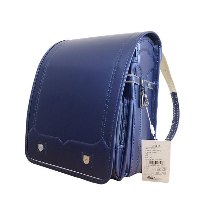Boys school bag High Quality PU Japan Backpacks Children's Bag Backpack orthopedic Randoseru Fashion Student waterproof Book Bag-in School Bags from Luggage & Bags    1