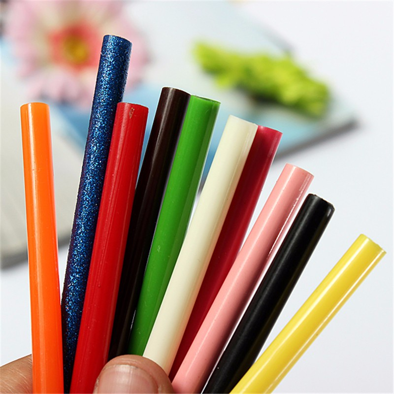 Colorful 7x100MM Hot Melt Glue Sticks 7MM For Electric Glue Gun Craft DIY Hand Repair Accessories Adhesive Sealing Wax Stick sealing wax stick wax seals kit for hobby craft projects wedding party invitations envelopes gift wrap bottle gadget accessories