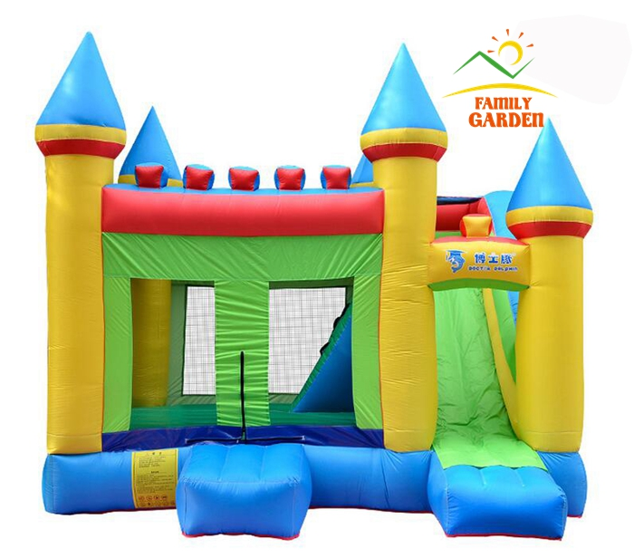 Inflatable HQ Commercial Grade Bouncing Castle Kingdom Bounce House with Blower and Slide