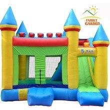 Надувной HQ коммерческий класс прыгающий замок Королевство отскок дом с воздуходувкой и горкой