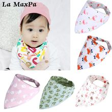 1pc Triangle Reusable Baby Bibs Double Layer Burp Cloth Scarf Boy Girl Stuff Baberos Babador Bandana Accessories