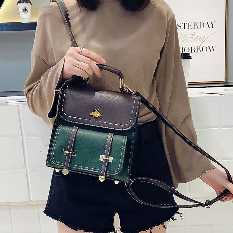 2019 New Fashion Vintage Backpacks Women Classic Schoolbag For Girls Fashion School Bag PU Leather High Quality College Backpack