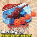 Человек-паук Дети Баскетбол Висит Набор Игрушка Шары Мини-Игры в Баскетбол Смешно Крытый Открытый Toys Игры Ребенок Мяч Спорт