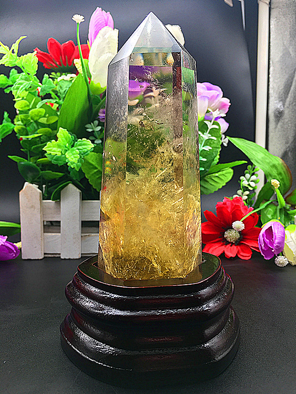 550 620g   Natural Citrine Quartz Crystal Wand Point Healing natural stones and minerals-in Stones from Home & Garden    1