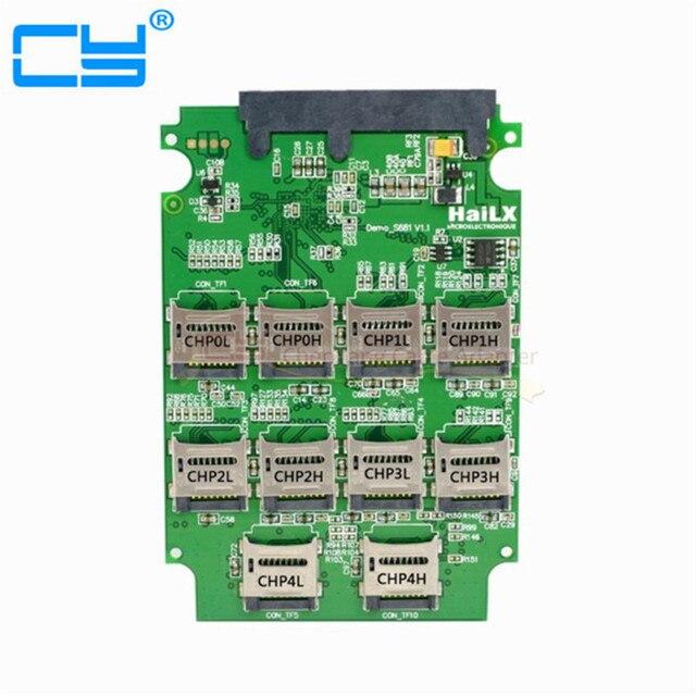 "10 x Micro SD TF Memory Card to SATA SSD Adapter with Raid Quad 2.5"" Inch SATA Converter"