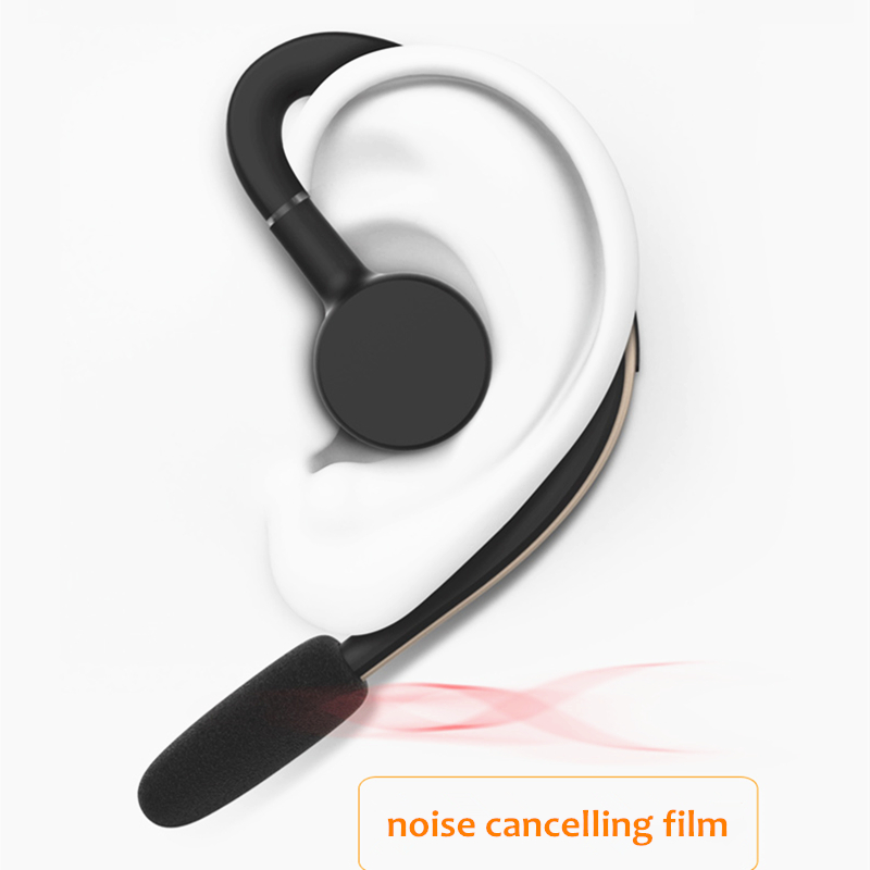 Handsfree Wireless Bluetooth Headset Business Earphone Noise Cancelling Sports Bluetooth Headphone with Mic Voice control Driver qcy q25 bluetooth 4 1 earphone wireless noise cancelling headphone