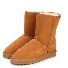 Зимние ботинки из натуральной воловьей кожи, женские ботинки, теплая зимняя обувь для влюбленных