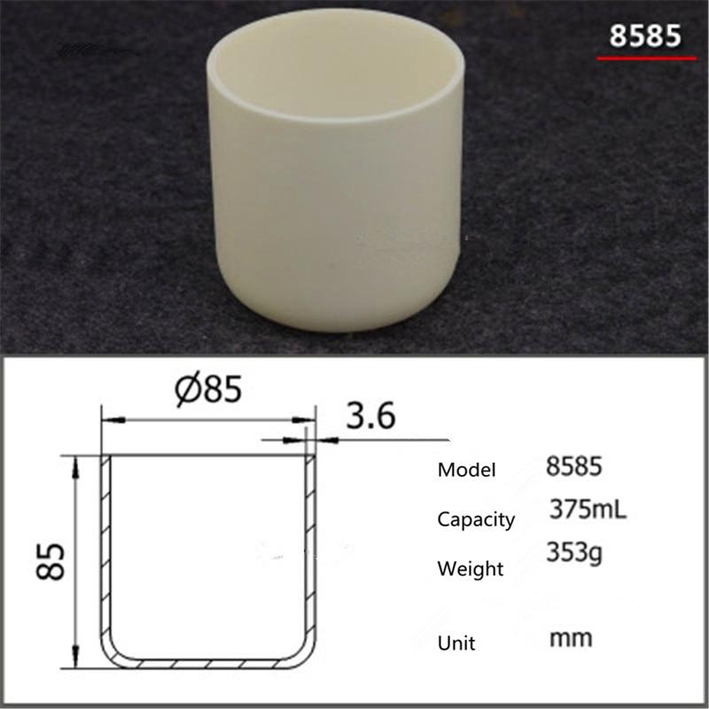 99.5% Cylindrical corundum crucible/Alumina ceramic crucible/375ml/Temperature resistance 1600 degree / sintered ceramic crucibl99.5% Cylindrical corundum crucible/Alumina ceramic crucible/375ml/Temperature resistance 1600 degree / sintered ceramic crucibl