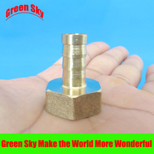 цена на 8mm Hose Barb Tail To 1/2PT BSP Female Thread Straight Barbed Brass Connector Joint Copper Pipe Fitting Coupler Adapter
