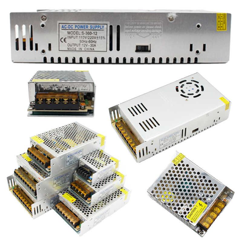 1 個ac 110v-220v dc 5v 12v 24v 1A 2A 3A 5A 10A 15A 20A 30A 50Aスイッチ電源ドライバアダプタledストリップライト