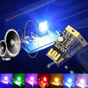 Image 1 - USB светодиодная декоративная лампа ip неоновые огни Автомобильные атмосферные окружающие огни dj RGB fso в автомобильном стробоскопе для автомобильного продукта для автомобиля