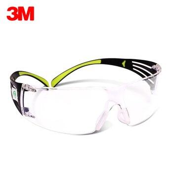 2d043a066e 3 M SF401AF seguridad gafas transparente gafas de protección Anti-Arena  polvo Anti-UV viento trabajo equitación ciclismo seguro gafas