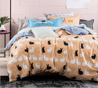 Rabbit Bedding sets 6pcs duvet doona quilt fitted cover ned sheet 100% cotton king queen full twin size bedclothes linens