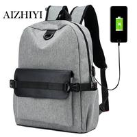 USB Charging Men Backpack Casual Travel Women Notebook Laptop School Bag