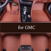 Auto car Leather floor Foot mat for GMC 1500 Sierra 1500 2010 2019s Sierra 2500 2010 2015s Yukon 2010 2016 Terrain 2012 2018s