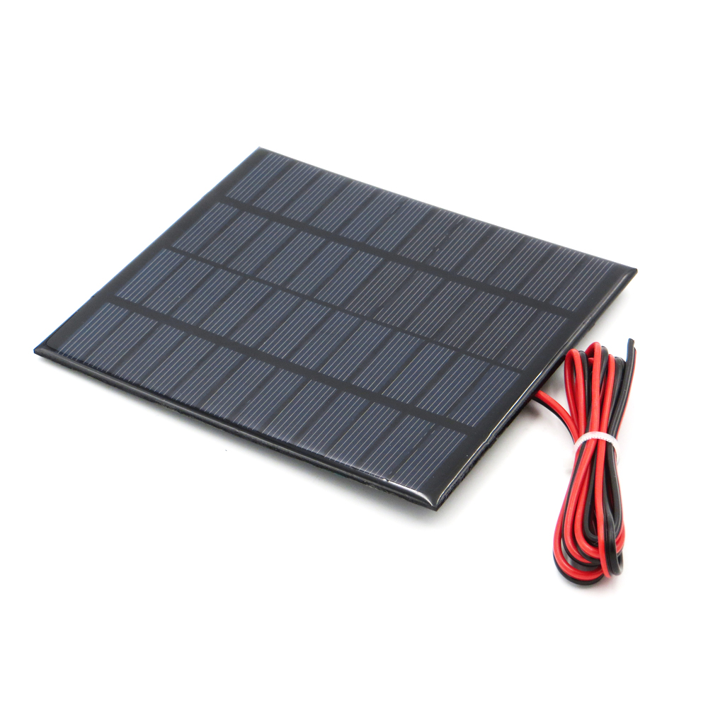 1pc x 12V 160mA with 100cm extend wire Solar Panel Polycrystalline Silicon DIY Battery Charger Small Mini Solar Cell cable toy