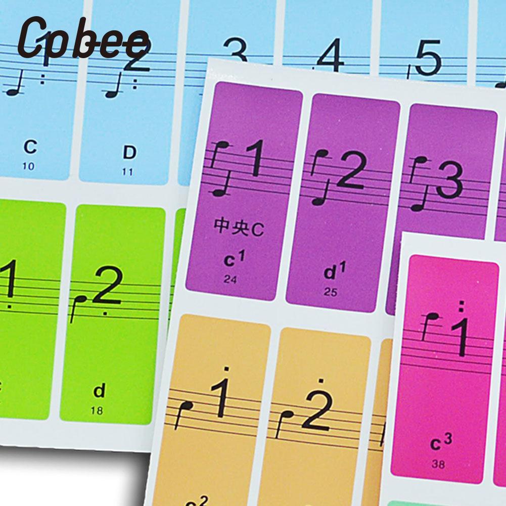 Music Sticker Piano Stickers Musical Symbol Sticker Colorful Art Professional Music Universal Paper Decor