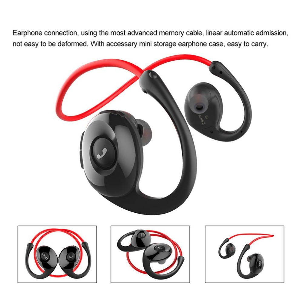 LESHP Snail In-ear Sport Bluetooth V4.0 Earphone Portable HIFI Headset Pedometer Microphone Function for Professional Running