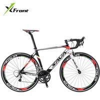 Original X Front Brand Full Carbon Fibre Road Bike 18 20 22 Speed 700cc 23C Shiman0