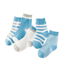 Soft Kids Socks Summer Stripes Cotton Cute Baby 6-Kinds-Style 10pieces/Lot--5pair