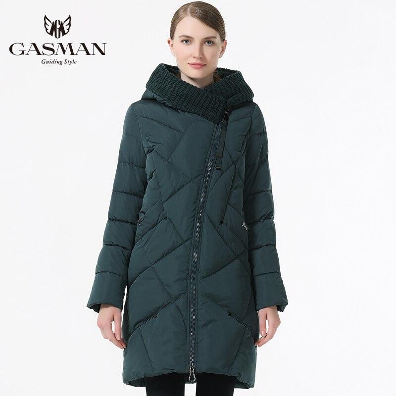 GASMAN 2018 Nouvelle Collection Hiver Marque De Mode Épais Femmes D'hiver Bio Vers Le Bas Vestes À Capuchon Femmes Parkas Manteaux grande taille 5XL 6XL - 4
