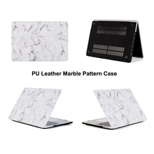 Flower Marble PU Leather Hard Laptop Bag Case for Macbook Air 13 Pro 13 A1706 A1708 A1989 Pro 15 A1707 A1990 2018 touch bar