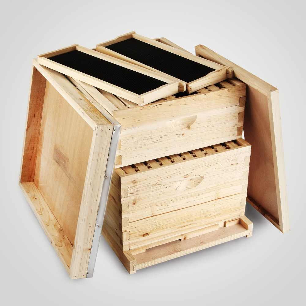 Beehive 20 Rahmen Box Kit (10 Tiefe-10 Medium) Langstroth Bienenzucht