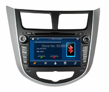 HD 2 din 7″ Car DVD GPS Navigation for Hyundai Verna Accent Solaris 2011-2012 With Bluetooth IPOD TV USB SWC RDS AUX IN