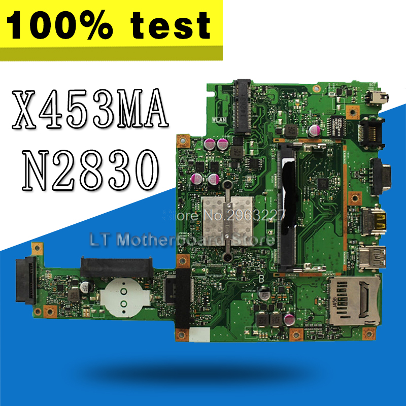 X453MA Motherboard N2830 CPU For ASUS X403MA X403M F453M Laptop motherboard X453MA Mainboard X453MA Motherboard test 100% OK все цены