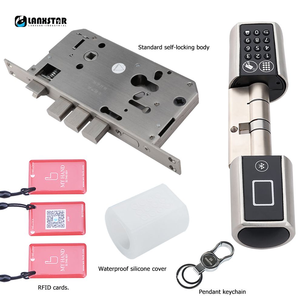 Lanxstar New Style Double System Lock Digital Lock Mobile Phone Unlockfor Office Home Use