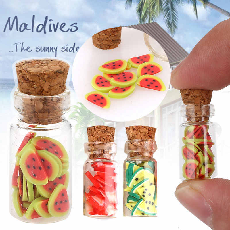 Mini Dollhouse Food Mini Doll Food Scale mini fruit vegetable bottle Dollhouse Miniature Toy Doll Food Kitchen Accessories