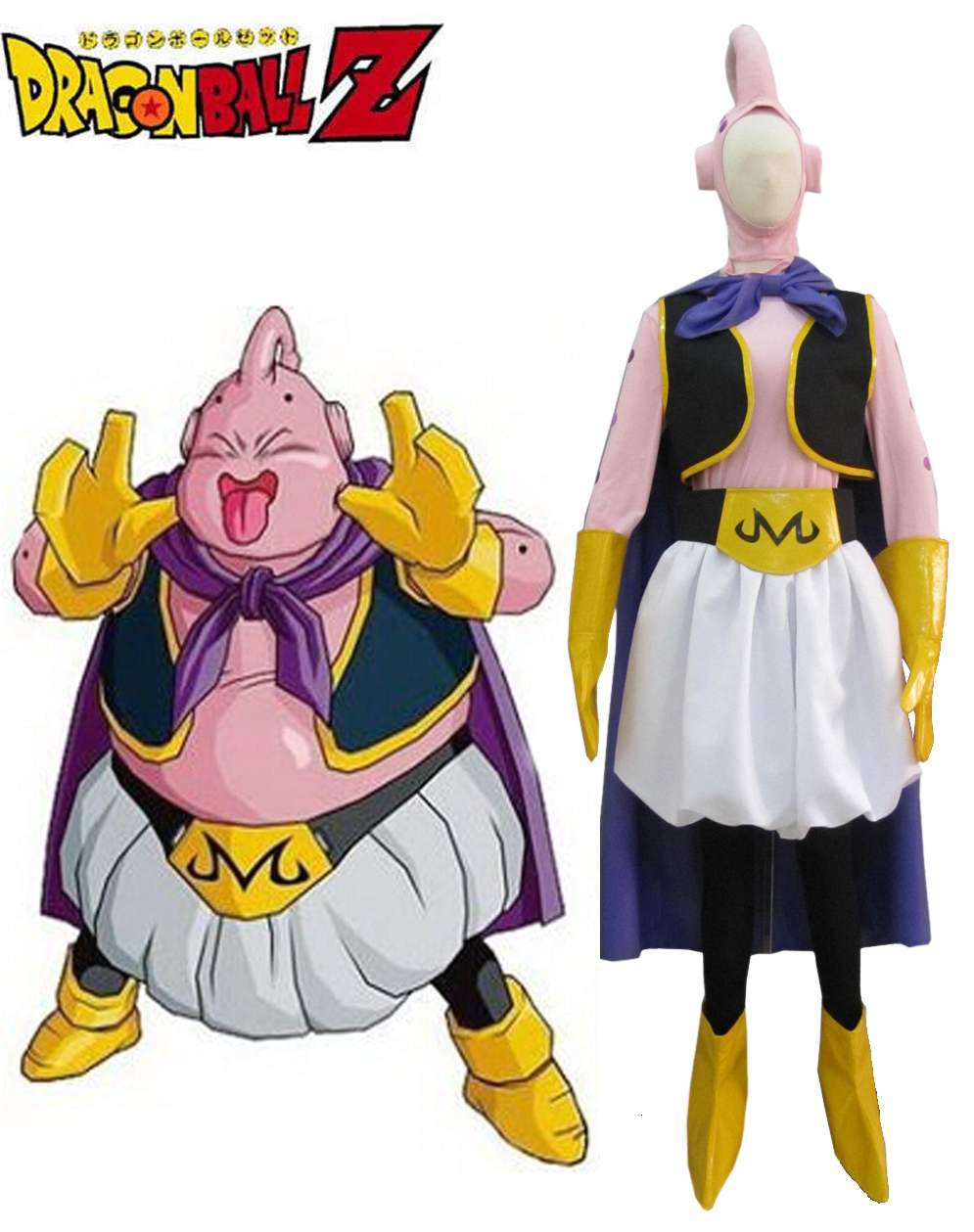 Dragon BallZ Majin Boo the fat Boo Cosplay Costumes