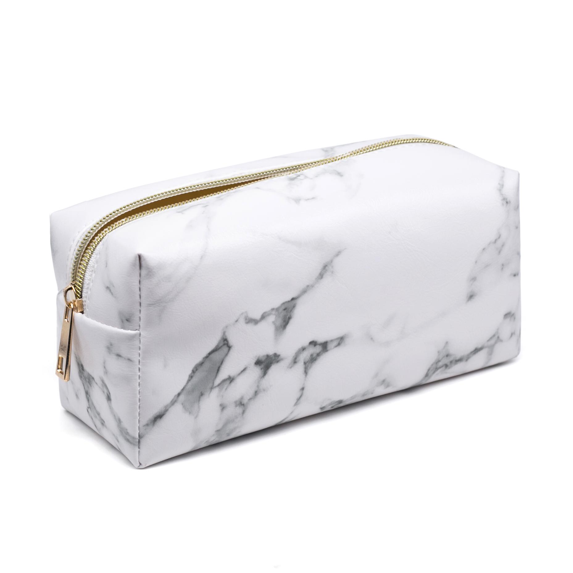 2019 New Marbling PU Makeup Bag Portable Travel Cosmetic Organizer Case for Makeup Brush