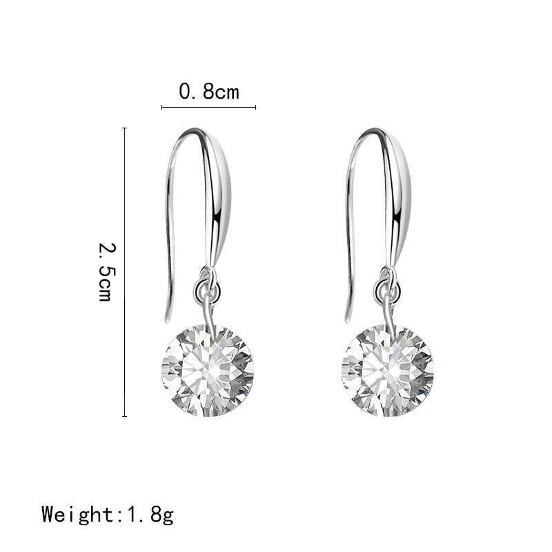 Модное ожерелье с каплевидными кристаллами серьги для женщин Свадебные панк звезда Луна длинные витые болтающиеся корейские серьги массивные украшения 2018