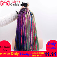 Mokogoddes Ombre Blonde Kanekalon Hair 24 Inch 30 Stands/pack Crochet Braids Senegalese Twist Braid Hair Extension