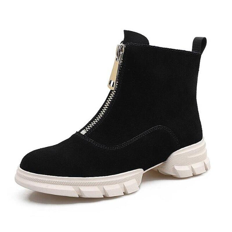 Suede Femmes marron rose Haute Nouvelle Zipper blanc Garder Cheville Femme Couleur Boot Confort Bottes Chaussures Mm199 Rouge Mode Chaud Avant Solide Noir Qualité Au Plat Oy8v0wmNn