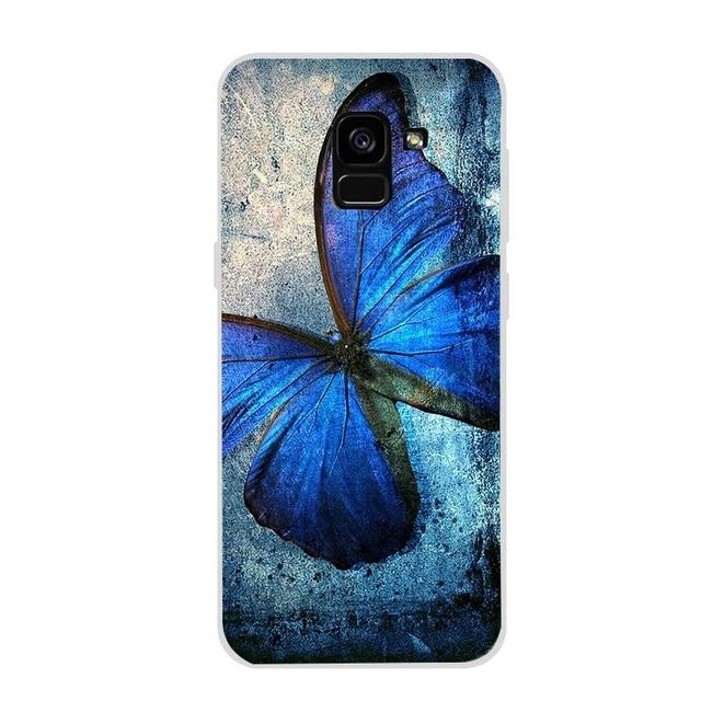 Coque de téléphone pour Samsung S8 S9 Plus S7 Edge Note 9 A5 J5 2017 A8 Plus A7 2018 fleur chat marbre housse peau Funda Coque